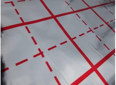 Folie s rastrem pro podlahové vytápení. Role 50m délka