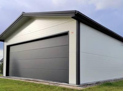 Zateplená sendvičová panelová montovaná garáž 4x6 / 6x5,8m celá ČR